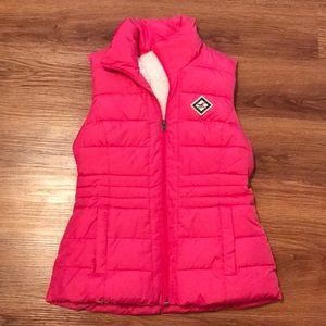 Pink Hollister Puff Fleece Vest XS